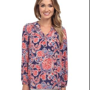 Lilly Pulitzer for the halibut printed Elsa Top